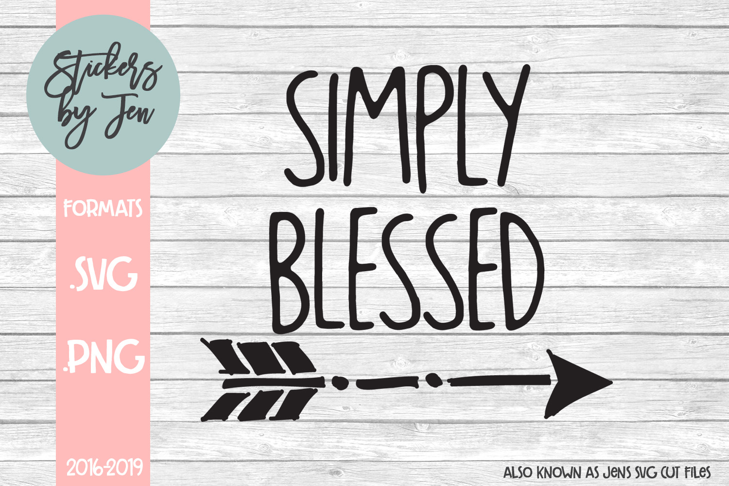 Download Free Simply Blessed Graphic By Stickers By Jennifer Creative Fabrica for Cricut Explore, Silhouette and other cutting machines.
