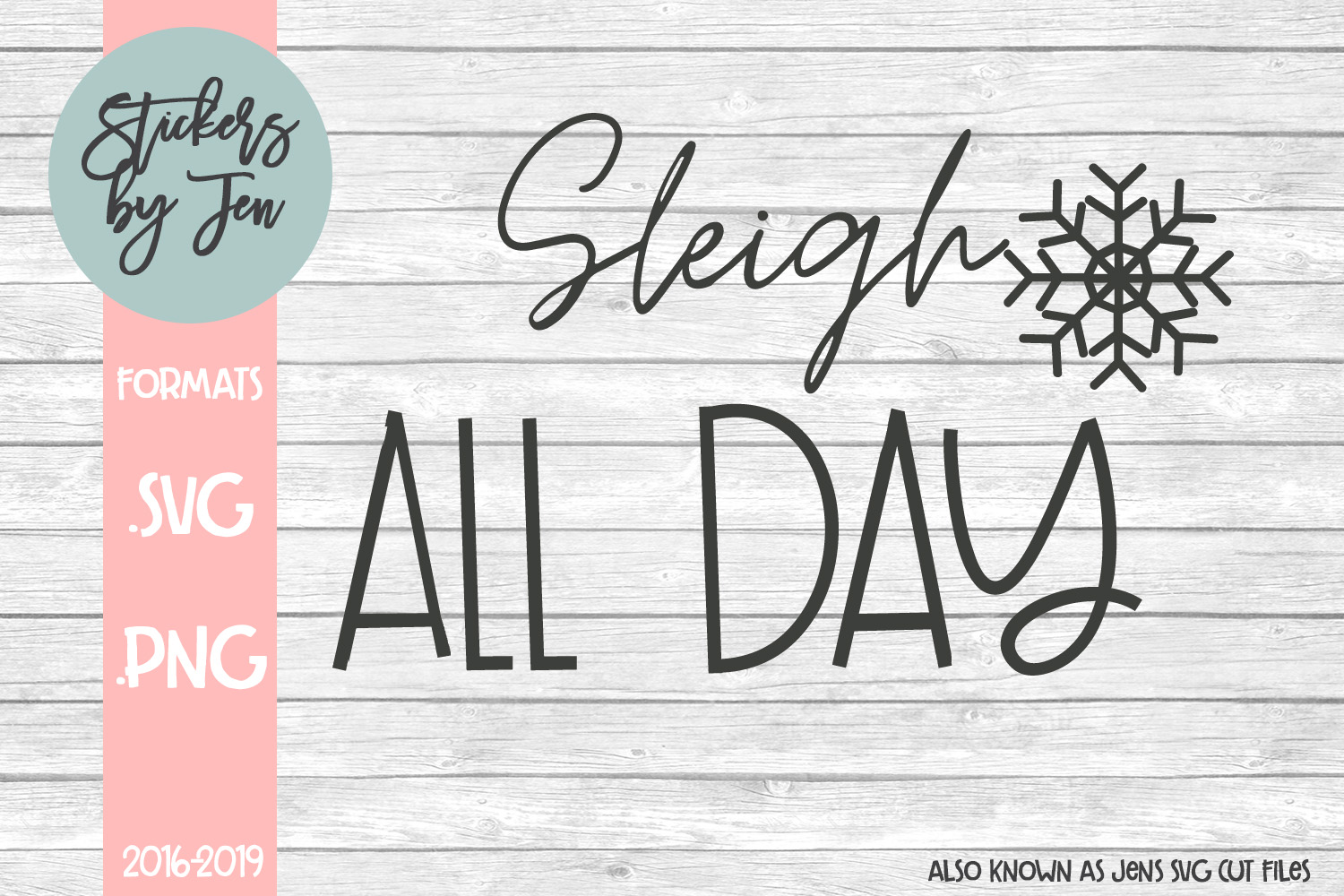 Download Free Sleigh All Day Graphic By Stickers By Jennifer Creative Fabrica for Cricut Explore, Silhouette and other cutting machines.