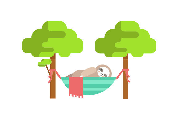 Download Free Sloth Laying In A Hammock Svg Cut File By Creative Fabrica for Cricut Explore, Silhouette and other cutting machines.