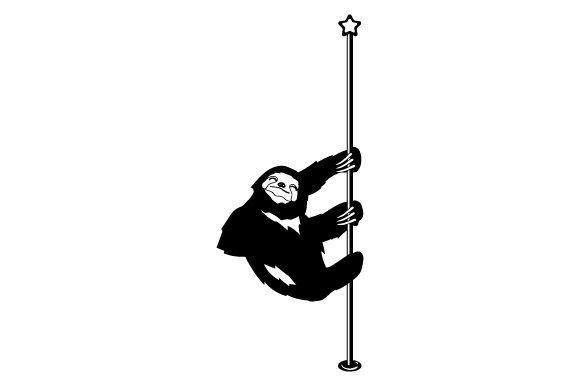 Download Free Sloth Pole Dancing Svg Cut File By Creative Fabrica Crafts for Cricut Explore, Silhouette and other cutting machines.