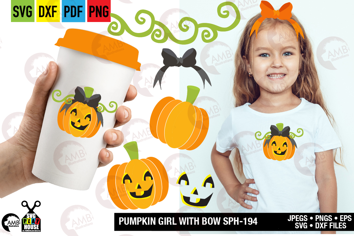 Download Free Smiley Girly Pumpkin Graphic By Ambillustrations Creative Fabrica for Cricut Explore, Silhouette and other cutting machines.