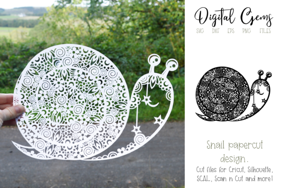 Snail Paper Cut Design Graphic Crafts By Digital Gems