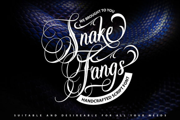 Print on Demand: SnakeFangs Script & Handwritten Font By Vunira