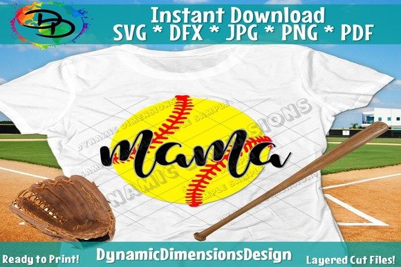 Download Free Softball Graphic By Dynamicdimensions Creative Fabrica for Cricut Explore, Silhouette and other cutting machines.