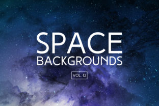 Space Backgrounds Vol. 12 Graphic By freezerondigital