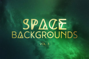 Space Backgrounds Vol.3 Graphic By freezerondigital
