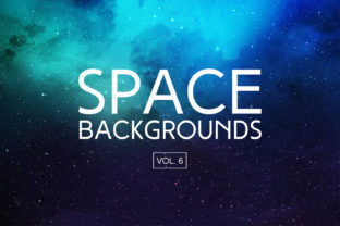 Space Backgrounds Vol.6 Graphic By freezerondigital