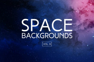 Space Backgrounds Vol.9 Graphic By freezerondigital