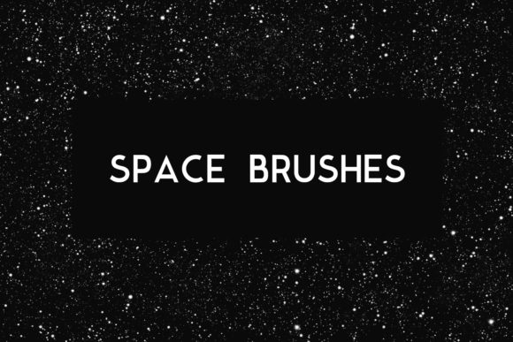 Print on Demand: Space Photoshop Brushes Graphic Backgrounds By freezerondigital