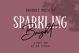 Sparkling Bright Duo Font By dmletter31