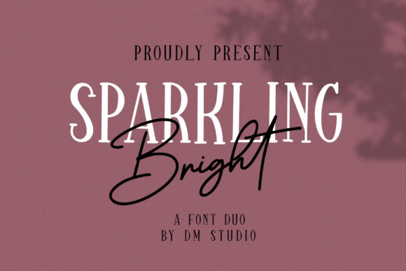 Print on Demand: Sparkling Bright Duo Script & Handwritten Font By dmletter31