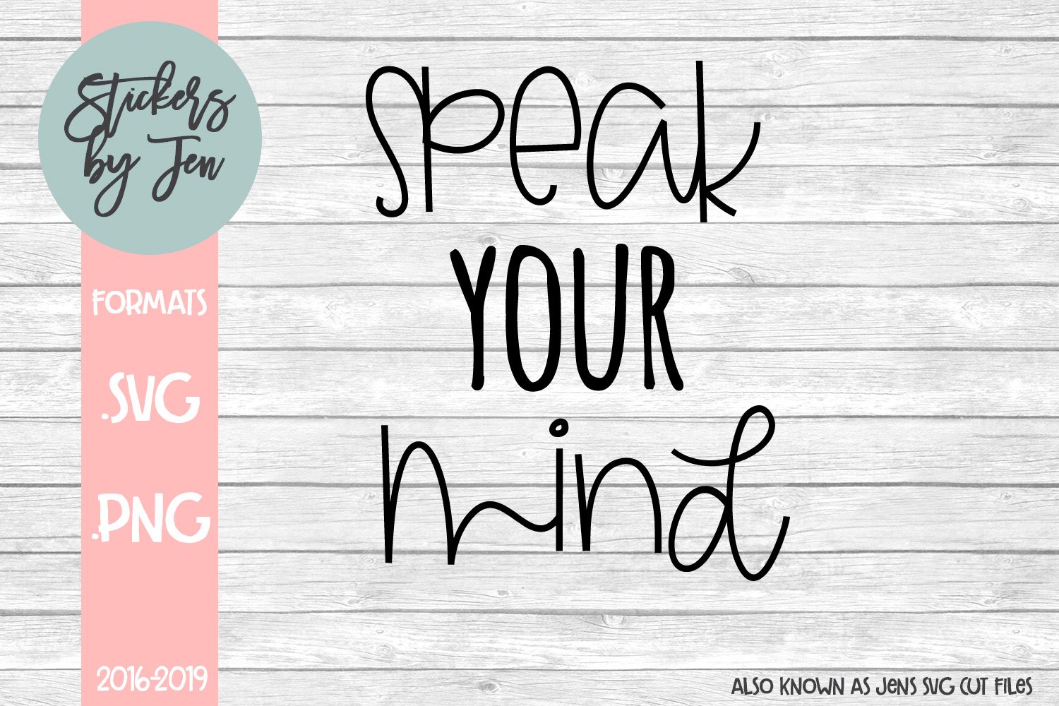 Download Free Speak Your Mind Graphic By Stickers By Jennifer Creative Fabrica for Cricut Explore, Silhouette and other cutting machines.