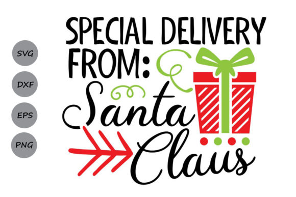Download Free Special Delivery From Santa Graphic By Cosmosfineart Creative for Cricut Explore, Silhouette and other cutting machines.