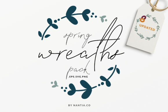 Print on Demand: Spring Wreaths Vector Pack Graphic Illustrations By nantia