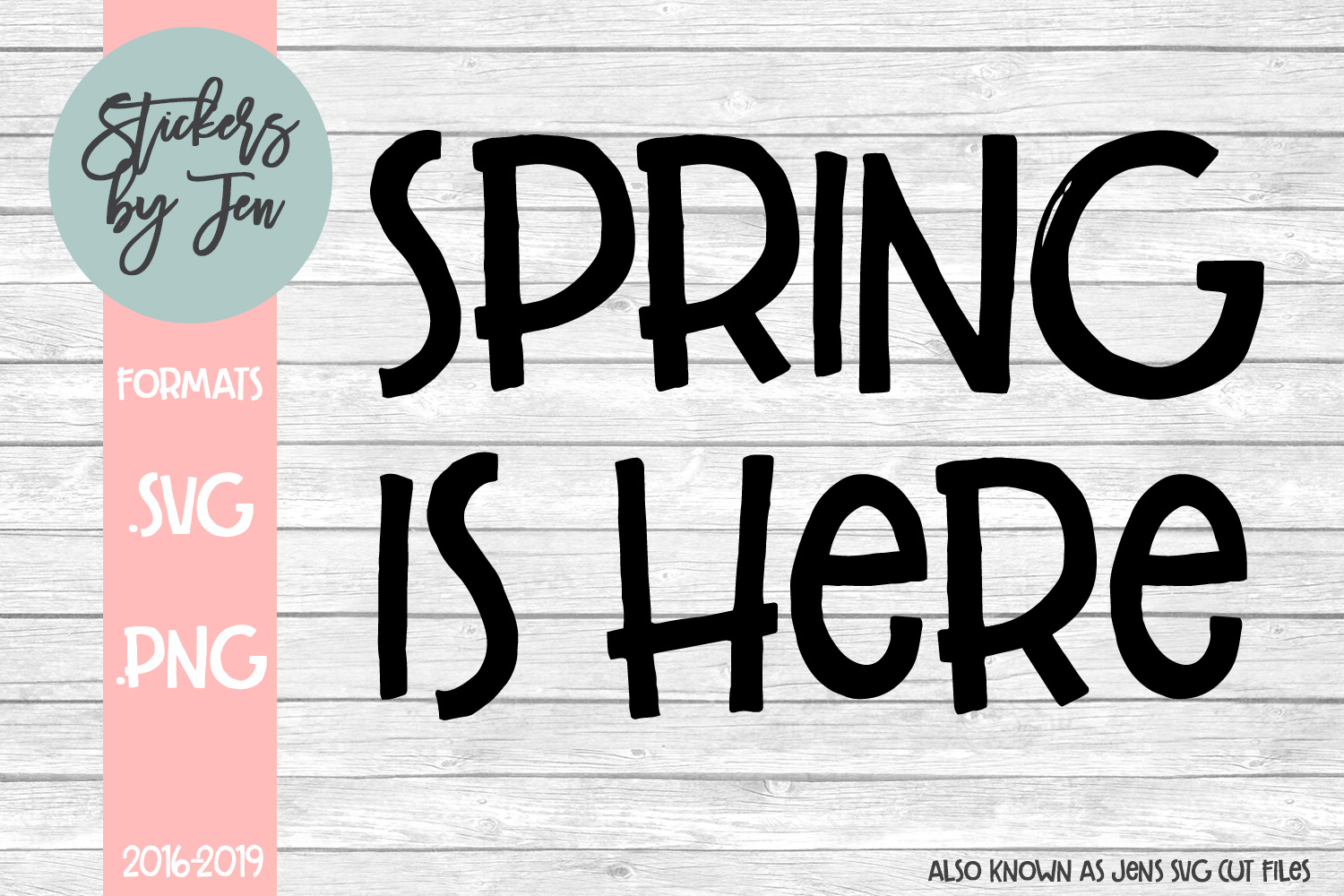 Download Free Spring Is Here Graphic By Stickers By Jennifer Creative Fabrica for Cricut Explore, Silhouette and other cutting machines.