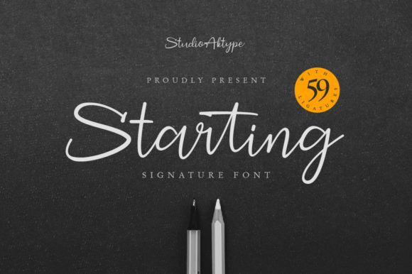 Print on Demand: Starting Script & Handwritten Font By StudioAKTYPE