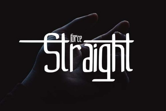 Print on Demand: Straight Decorative Font By darnotok005