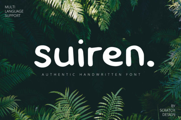 Print on Demand: Suiren Script & Handwritten Font By Scratch Design