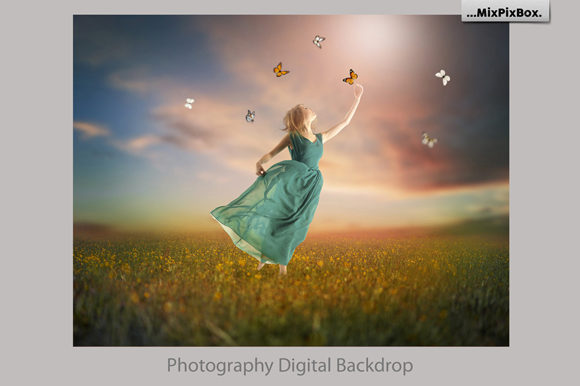 Print on Demand: Summer Backdrops Graphic Layer Styles By MixPixBox - Image 3
