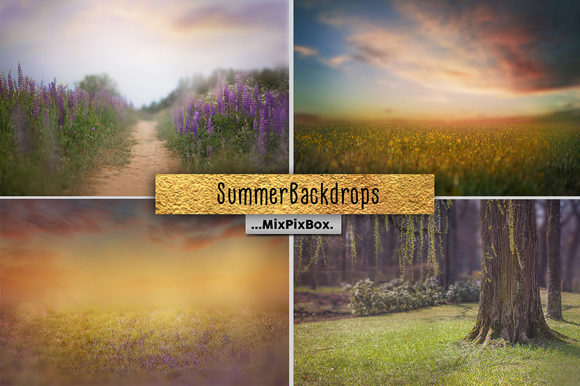Print on Demand: Summer Backdrops Graphic Layer Styles By MixPixBox