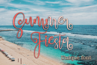 Summer Fiesta Font By halimantoni103