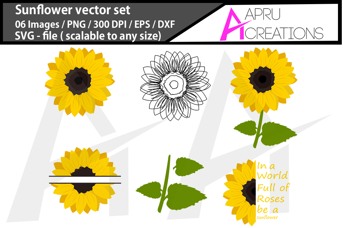 Download Free Sunflower Graphic By Aparnastjp Creative Fabrica for Cricut Explore, Silhouette and other cutting machines.