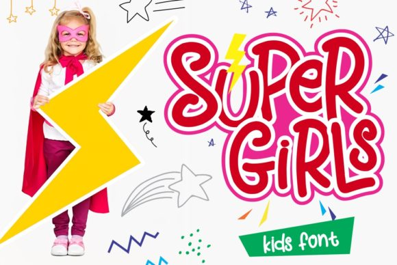 Print on Demand: Super Girls Display Font By Girinesia - Image 1