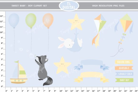 Sweet Baby Clipart Set Boy 25 Graphics Graphic Illustrations By TL Digital