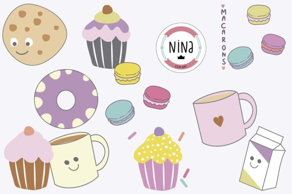 Download Free Sweet Bakery Clip Art Graphic By Nina Prints Creative Fabrica for Cricut Explore, Silhouette and other cutting machines.