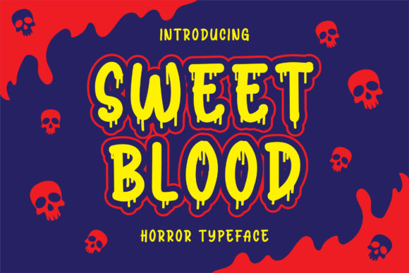 Print on Demand: Sweet Blood Display Font By Blankids Studio