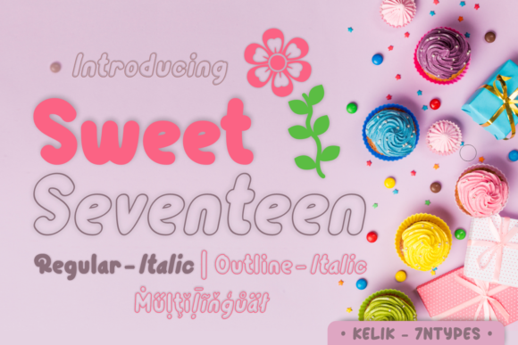 Print on Demand: Sweet Seventeen Script & Handwritten Font By Kelik - 7NTypes