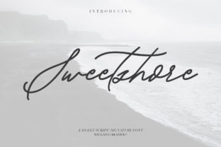 Print on Demand: Sweetshore Script & Handwritten Font By Maulana Creative