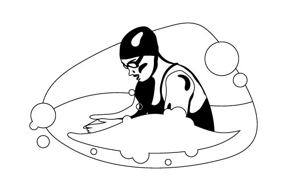 Download Free Swimmer Doing Breaststroke Svg Cut File By Creative Fabrica for Cricut Explore, Silhouette and other cutting machines.