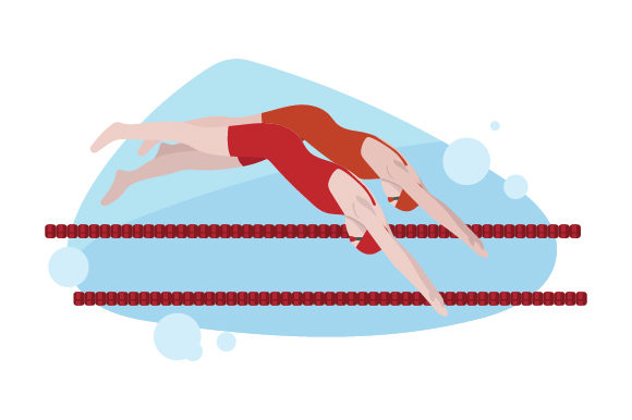 Swimmers Diving in at Race Sports Craft Cut File By Creative Fabrica Crafts