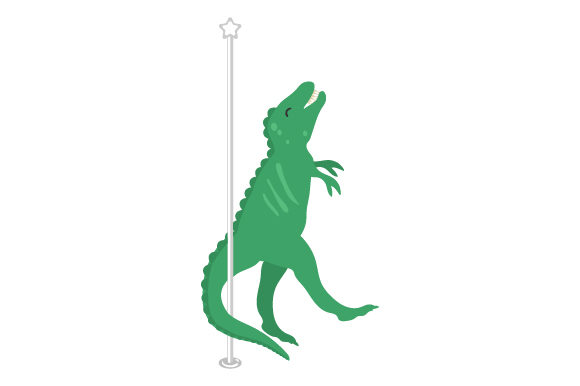 T-rex Pole Dancing Dinosaurs Craft Cut File By Creative Fabrica Crafts