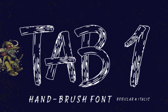Print on Demand: Tab 1 Display Font By Situjuh - Image 1