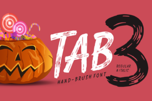 Tab 3 Script & Handwritten Font By Situjuh