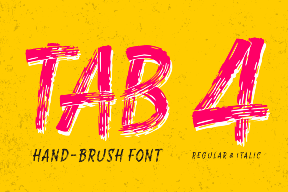 Print on Demand: Tab 4 Display Font By Situjuh