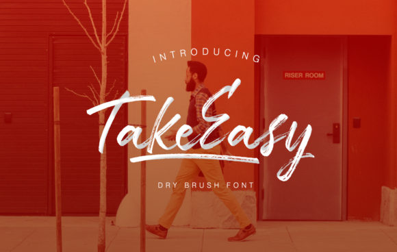 Print on Demand: TakeEasy Script & Handwritten Font By letterhend