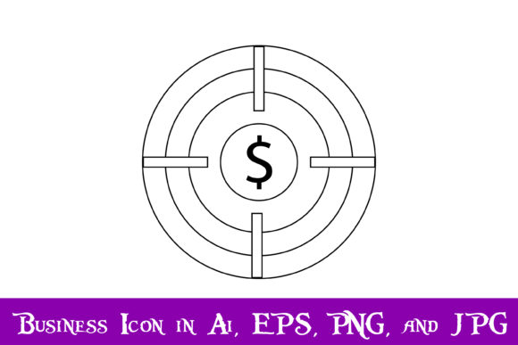 Download Free Target Crosshair Money Icon Graphic By Purplespoonpirates for Cricut Explore, Silhouette and other cutting machines.