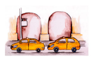 Taxi Stand Craft Design By Creative Fabrica Crafts