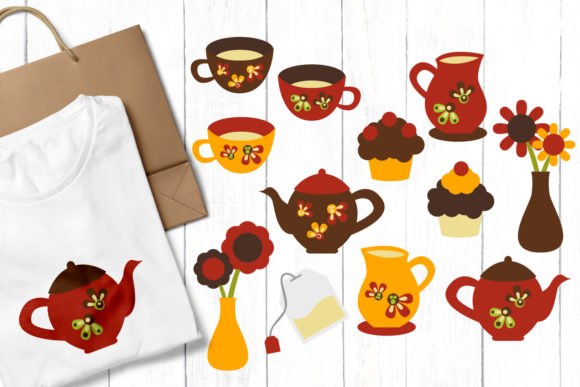 Print on Demand: Tea Party Graphic Illustrations By Revidevi