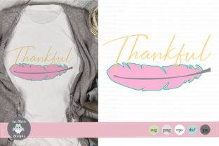 Thankful Feather Graphic By thejaemarie