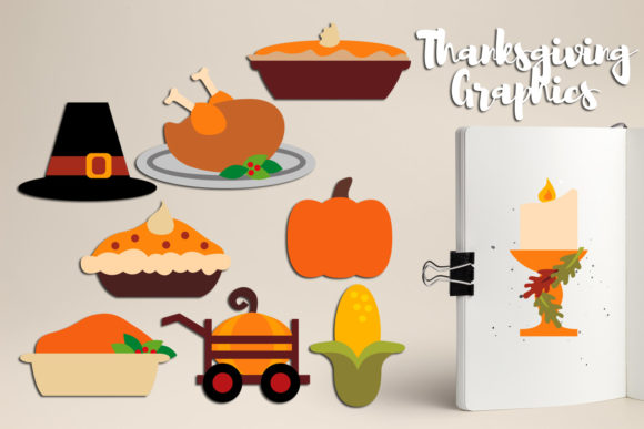 Print on Demand: Thanksgiving Bundle Graphic Illustrations By Revidevi - Image 2