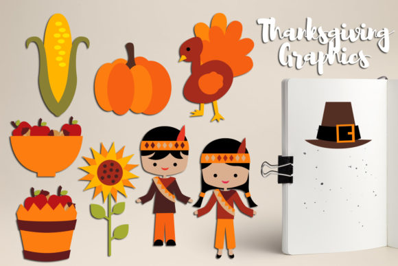 Print on Demand: Thanksgiving Bundle Graphic Illustrations By Revidevi - Image 4
