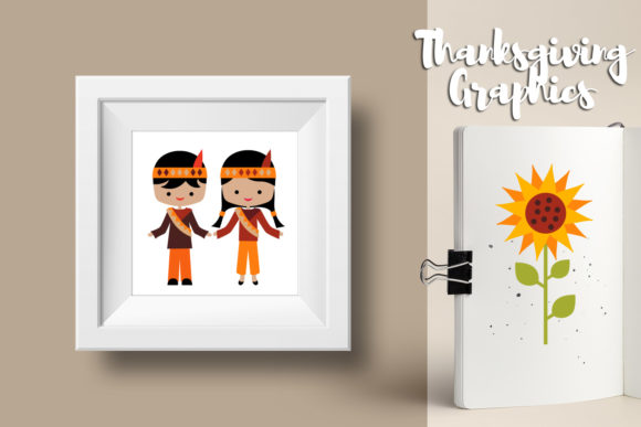 Print on Demand: Thanksgiving Bundle Graphic Illustrations By Revidevi - Image 5