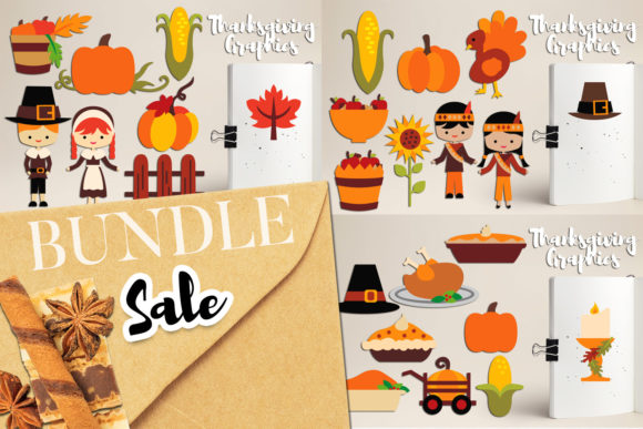 Print on Demand: Thanksgiving Bundle Graphic Illustrations By Revidevi