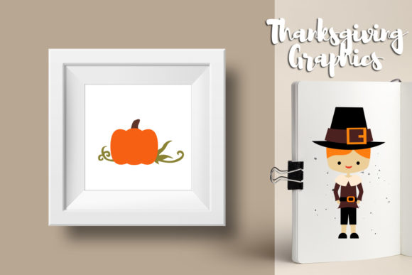 Print on Demand: Thanksgiving Bundle Graphic Illustrations By Revidevi - Image 7