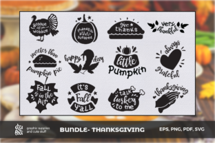 Thanksgiving Cut Files Graphic By duka