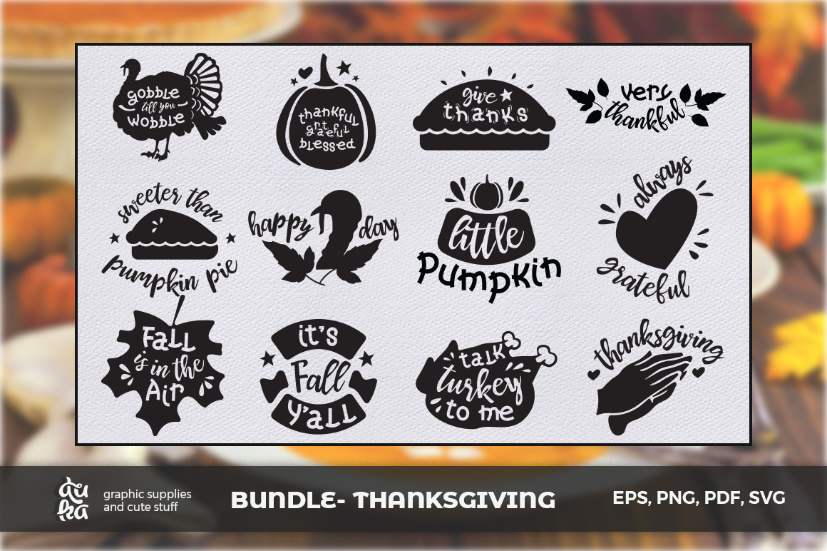 Download Free Thanksgiving Cut Files Graphic By Duka Creative Fabrica for Cricut Explore, Silhouette and other cutting machines.